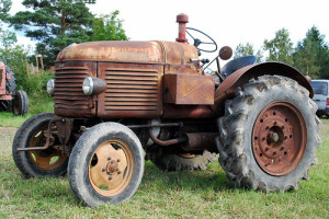 old agricultural tractor