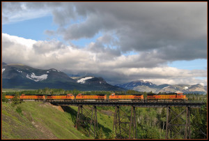 Two Medicine Trestle Montana Rail