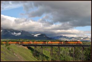 Two Medicine Trestle Montana Rail