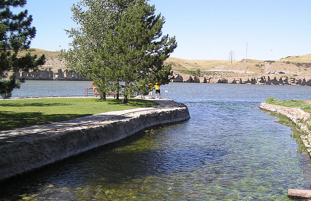 Roe river world s shortest river located in montana big - Swimming pools in great falls montana ...